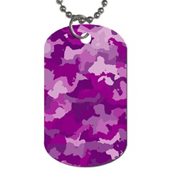 Camouflage Purple Dog Tag (two Sides) by MoreColorsinLife
