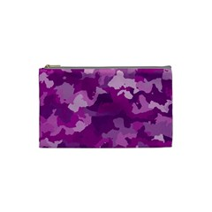 Camouflage Purple Cosmetic Bag (small)  by MoreColorsinLife