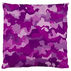 Camouflage Purple Large Flano Cushion Cases (one Side)  by MoreColorsinLife
