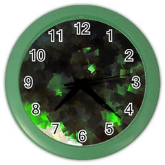 Space Like No 7 Color Wall Clocks by timelessartoncanvas