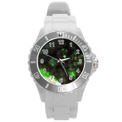 Space Like No 7 Round Plastic Sport Watch (l) by timelessartoncanvas