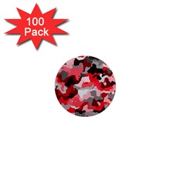 Camouflage Red,black 1  Mini Magnets (100 Pack)  by MoreColorsinLife