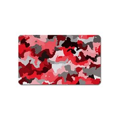 Camouflage Red,black Magnet (Name Card) by MoreColorsinLife