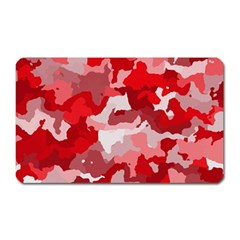 Camouflage Red Magnet (rectangular) by MoreColorsinLife