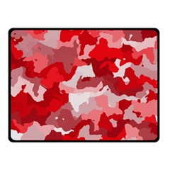 Camouflage Red Fleece Blanket (small) by MoreColorsinLife