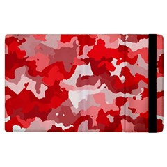 Camouflage Red Apple Ipad 3/4 Flip Case by MoreColorsinLife