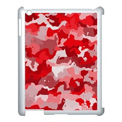 Camouflage Red Apple Ipad 3/4 Case (white) by MoreColorsinLife