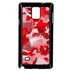 Camouflage Red Samsung Galaxy Note 4 Case (Black) by MoreColorsinLife