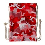 Camouflage Red Drawstring Bag (Large) Front