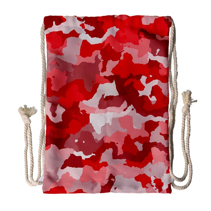 Camouflage Red Drawstring Bag (Large)