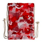 Camouflage Red Drawstring Bag (Large) Back