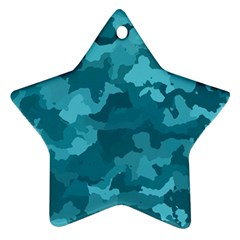 Camouflage Teal Star Ornament (two Sides)  by MoreColorsinLife