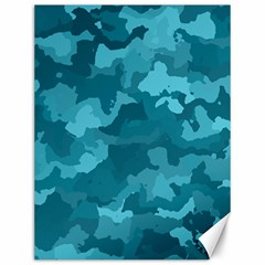 Camouflage Teal Canvas 12  X 16   by MoreColorsinLife