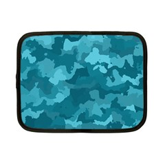 Camouflage Teal Netbook Case (Small)  by MoreColorsinLife