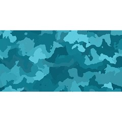 Camouflage Teal You Are Invited 3d Greeting Card (8x4)  by MoreColorsinLife