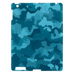 Camouflage Teal Apple Ipad 3/4 Hardshell Case by MoreColorsinLife