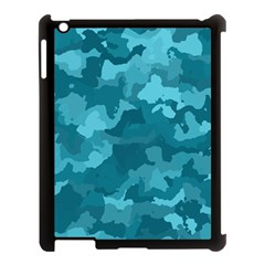 Camouflage Teal Apple Ipad 3/4 Case (black) by MoreColorsinLife