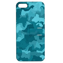 Camouflage Teal Apple iPhone 5 Hardshell Case with Stand by MoreColorsinLife