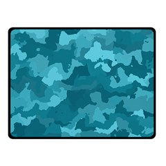 Camouflage Teal Double Sided Fleece Blanket (small)  by MoreColorsinLife