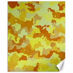 Camouflage Yellow Canvas 16  x 20   by MoreColorsinLife