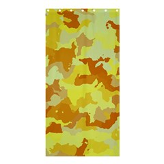 Camouflage Yellow Shower Curtain 36  X 72  (stall)  by MoreColorsinLife