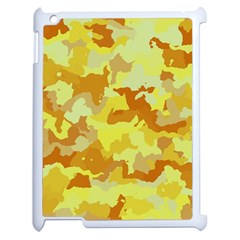 Camouflage Yellow Apple Ipad 2 Case (white) by MoreColorsinLife