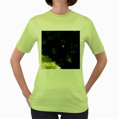 Space Like No 8 Women s Green T Shirt by timelessartoncanvas