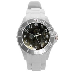 Space Like No 8 Round Plastic Sport Watch (l) by timelessartoncanvas