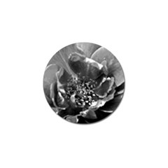 Black And White Rose Golf Ball Marker by timelessartoncanvas