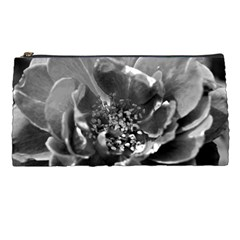 Black And White Rose Pencil Cases by timelessartoncanvas