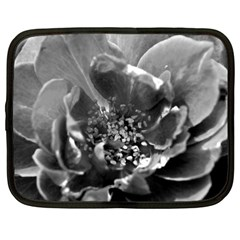 Black And White Rose Netbook Case (xxl)  by timelessartoncanvas