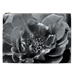 Black And White Rose Cosmetic Bag (xxl)  by timelessartoncanvas