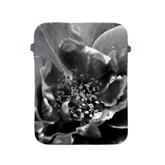 Black And White Rose Apple Ipad 2/3/4 Protective Soft Cases by timelessartoncanvas