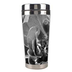 Black And White Rose Stainless Steel Travel Tumblers by timelessartoncanvas