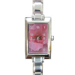 Pink Rose Rectangle Italian Charm Watches