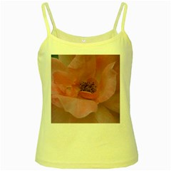 Pink Rose Yellow Spaghetti Tanks