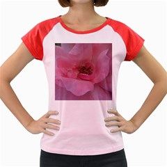 Pink Rose Women s Cap Sleeve T-Shirt