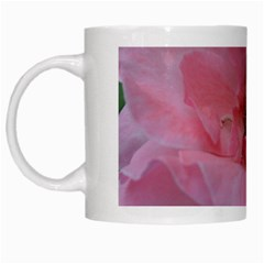 Pink Rose White Mugs