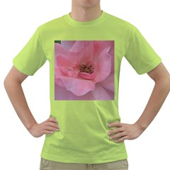 Pink Rose Green T-Shirt