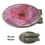 Pink Rose Money Clips (Oval)