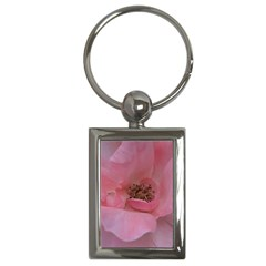 Pink Rose Key Chains (Rectangle)