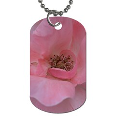 Pink Rose Dog Tag (One Side)