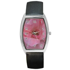 Pink Rose Barrel Metal Watches