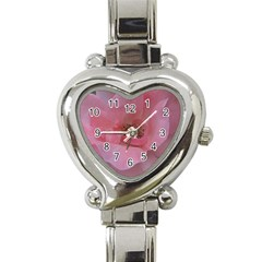 Pink Rose Heart Italian Charm Watch