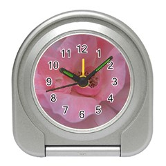 Pink Rose Travel Alarm Clocks