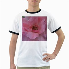 Pink Rose Ringer T-Shirts