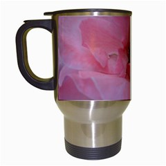 Pink Rose Travel Mugs (White)
