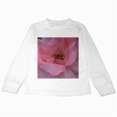 Pink Rose Kids Long Sleeve T-Shirts