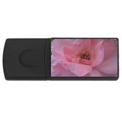 Pink Rose Usb Flash Drive Rectangular (4 Gb)  by timelessartoncanvas