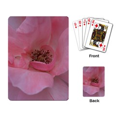 Pink Rose Playing Card